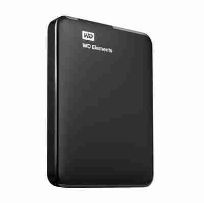 Disco duro externo Western Digital Elements Portable WDBUZG0010BBK-WESN